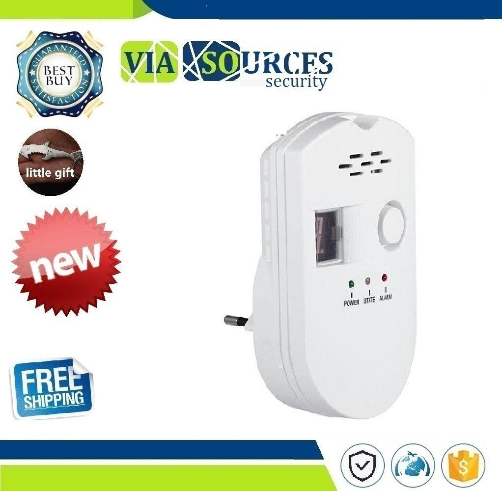 EU Home Gas Detector Kitchen Security Combustible Gas Detector LCD LPG LNG Coal Natural Gas Leak Alarm Sensor Warning DetectorEU Home Gas Detector Kitchen Security Combustible Gas Detector LCD LPG LNG Coal Natural Gas Leak Alarm Sensor Warning Detector