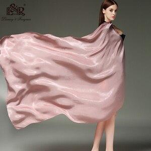 Image 5 - 2020 Khăn Lụa Nữ Cotton Khăn Voan Chắc Chắn Foulard Femme Khăn Choàng Len Lụa Dây Đầu Khăn Hijab Khăn Choàng Bãi Biển Đuôi Nơ