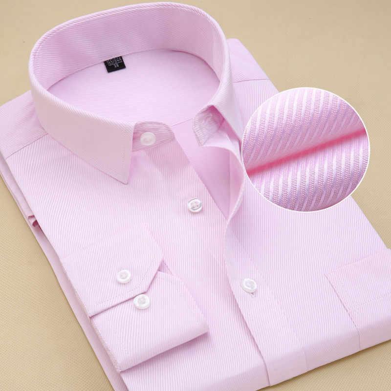 8aa7ed608 Recomendar 8xl 2018 sarja sólidos homens de negócios camisas de vestido de  manga longa com bolso