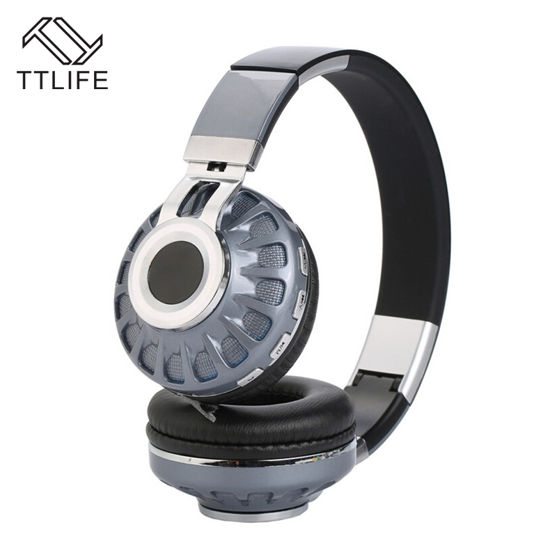 TTLIFE Bluetooth Headset Wireless Headphones Stereo Foldable Sport Earphone with Mic support TF card FM radio for iPhone xiaomi wireless foldable bluetooth headphone stereo headset with mic support tf card fm stereo radio tf mp3 player for iphone samsung