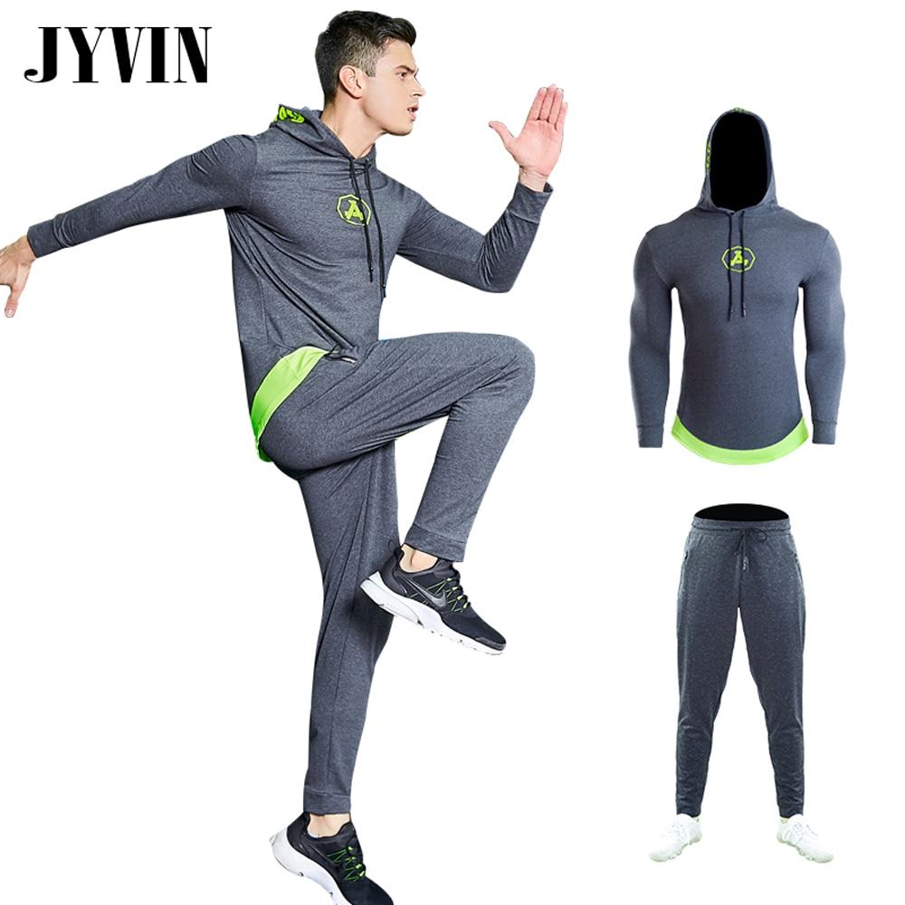 Los hombres de gimnasio de entrenamiento Fitness ropa deportiva Sudadera  con capucha chaquetas ropa de entrenamiento ropa trajes correr jogging ropa  ... 7a57f5bd6a669