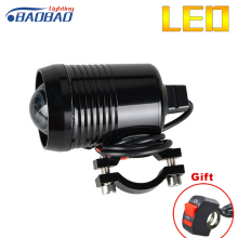 Univeral motorcycle car bike Cr-ee U2 LED DC12-80V motorcycle headlight,fog spot head light Auo fog lamp motorcycle laser light