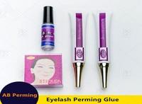 3 Sets professional A+B perming cream liquid glue primer glue for eyelash /Lash lift perming glue with free shipping