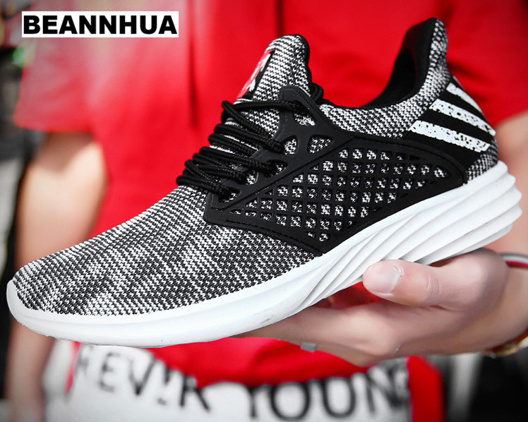 BEANNHUA 2018 new summer men s shoes high quality sports shoes breathable flying men s running