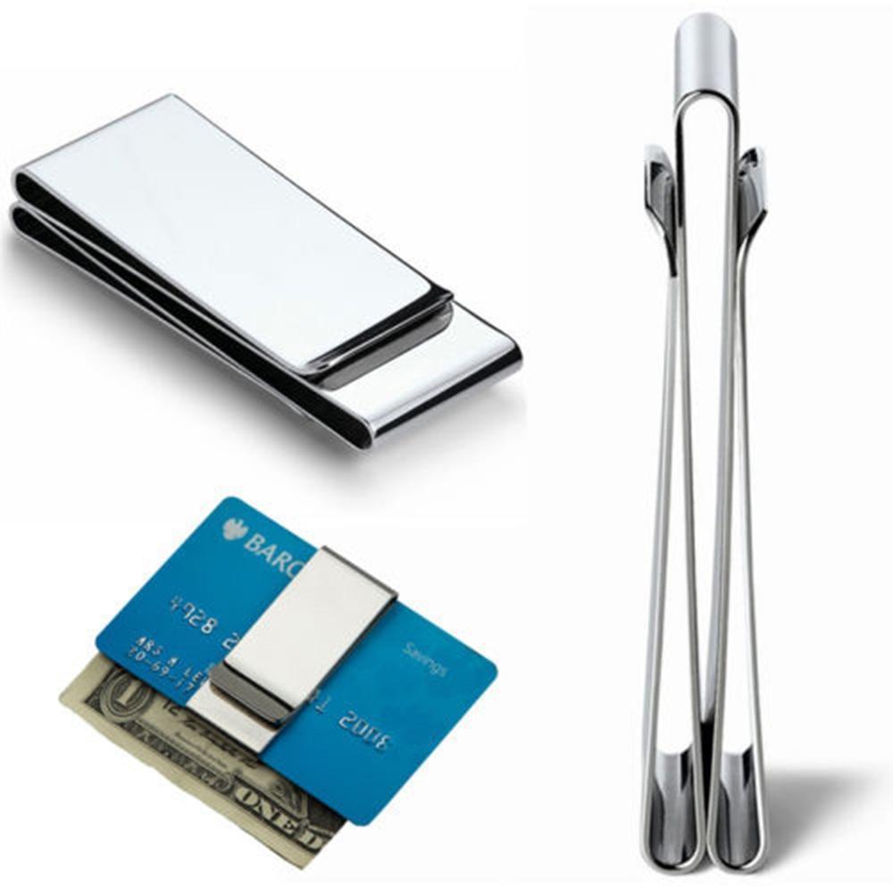 ISKYBOB 2020 из нержавеющей стали карманный зажим для денег доллар металлический зажим для карт кредитные карты держатель для денег