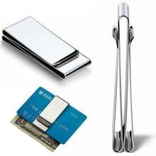 Iskybob 2020 inoxidável homem bolso dinheiro clipe dólar metal grampo clipes de cartão cartões de crédito titular do dinheiro