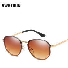 196460713b16f VWKTUUN Rodada Do Vintage Óculos De Sol Das Mulheres Dos Homens Sem Aro  óculos de Sol Para As Mulheres Homem UV400 Óculos Ao Ar ..