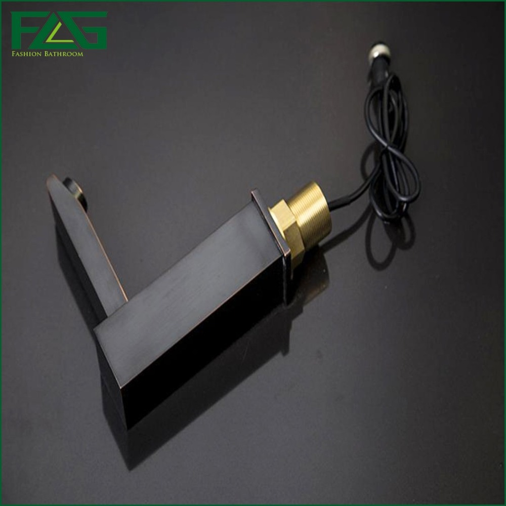 FLG Black Square Sensor Faucet Automatic Infrared Hand Touch Free ...