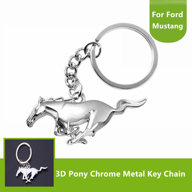 Nouveau Pour Ford Mustang D Chrome Finition Poney Cheval Forme Clé - Porte clé ford