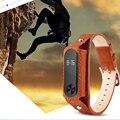 Xiaomi Mi Группа 2 полос Натуральная Кожа Наручные Blet Ремешок браслет Браслет Аксессуары Для Xiaomi Mi Группа 2 Smart Watch Miband
