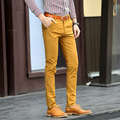 2016 бренда высокое качество мужские деловые брюки-карго мужчины вельветовые брюки свободного покроя хлопок-мужчин прямые брюки размер 28 - 36