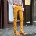 2016 primavera alta calidad de hombres de negocios de los pantalones Cargo hombres pantalones de pana de algodón para hombre ocasional rectos pantalones tamaño 28-36