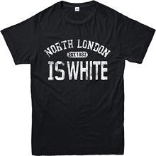 2018 Summer Fashion Hot Tottenham T-Shirt North London is White InspiRed Design Top Tee shirt  Free shipping newest tottenham huddersfield