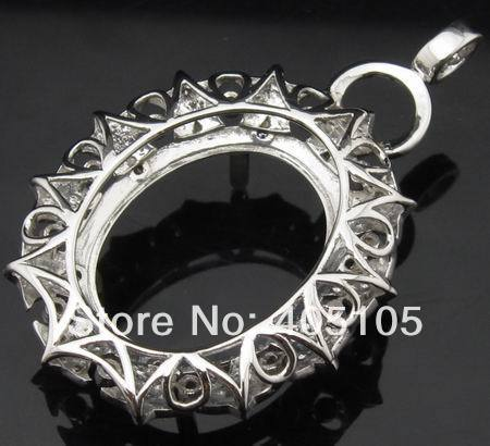 Hot oval 15x20mm 14ct white gold semi mount diamond pendant oval 15x20mm 14ct white gold semi mount diamond pendant settings in pendants from jewelry accessories on aliexpress alibaba group mozeypictures Choice Image
