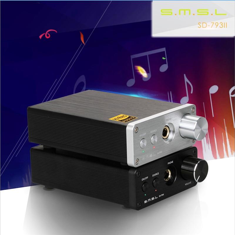 SMSL SD-793II 24bit 96khz pure Coaxial SPDIF DAC DIR9001 PCM1793 OPA2134  digital converter with  Amplifier smsl sd 793ii dir9001 pcm1793 opa2134 coaxial optical mini dac headphone amp black color