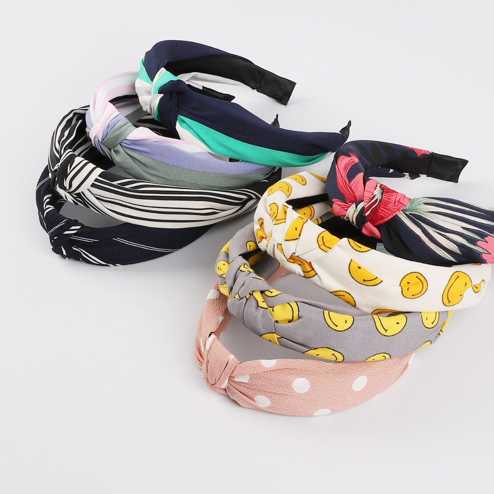 Knot Cross Tie Korean Fashion Women Hair Band Hairband Knitted rib Girls Bow Hoop Hair Accessories Velvet Twist Headband(China)