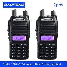 2PCS BaoFeng UV 82 워키 토키 5W 8 W U/V Baofeng UV 82 헤드셋 워키 토키 10 KM Baofeng UV82 8 와트 라디오 uv 9r 햄 라디오