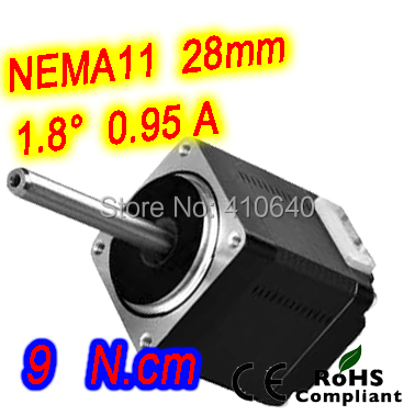 10 pieces per lot FREE SHIPPING Nema11  stepper motor model 11HS20-0956S 1.8 deg 0.95 A  9 N.cm with unipolar and 6 lead wires ic adc 10bit 3msps hs lp 8msop 10 pieces