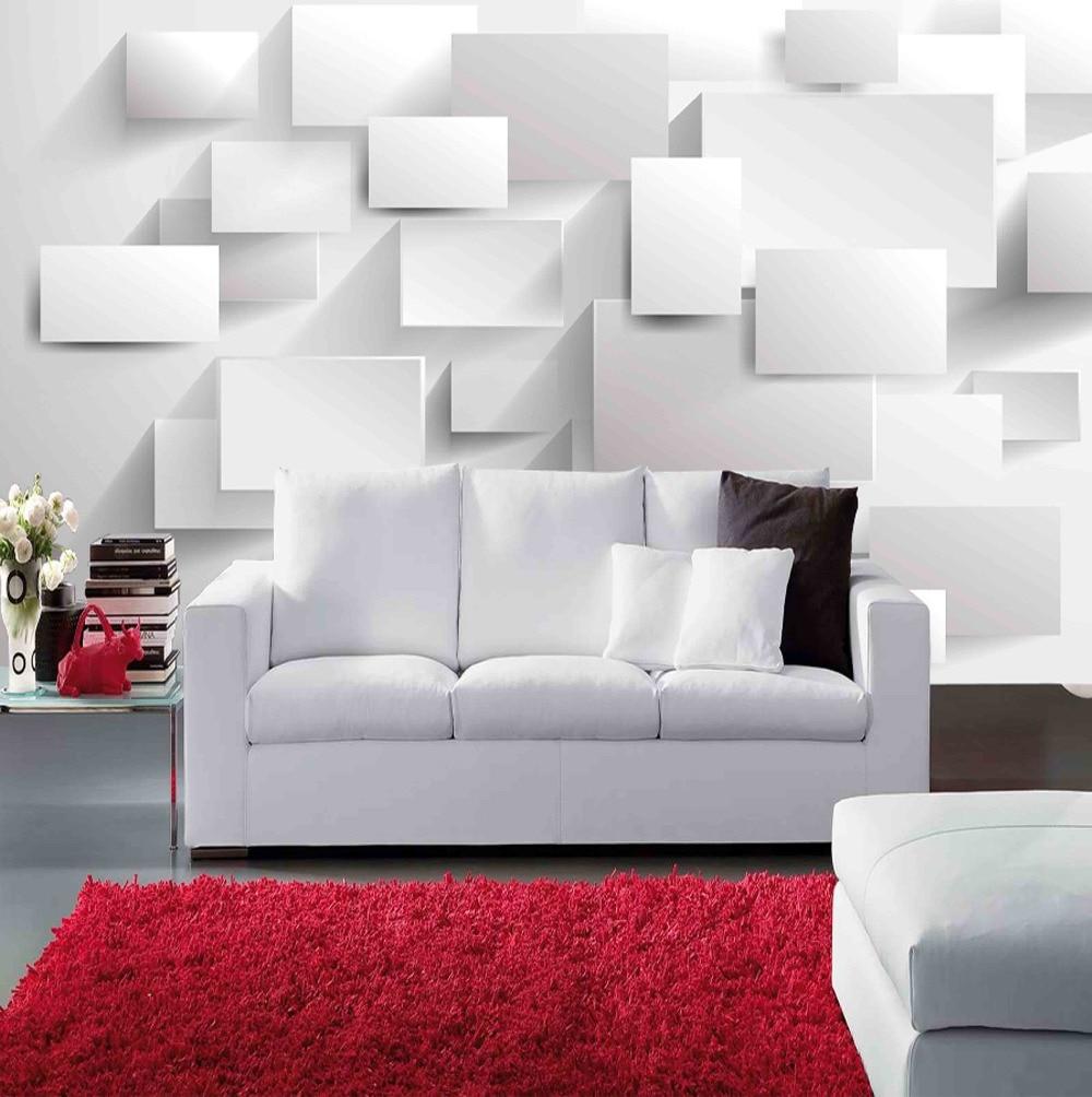 Large papel de parede decorative 3d wall panels murals wallpaper for - Modern Block Grid 3d Wall Mural Wallpaper For Living Room Tv Sofa Background 3d Photo Mural