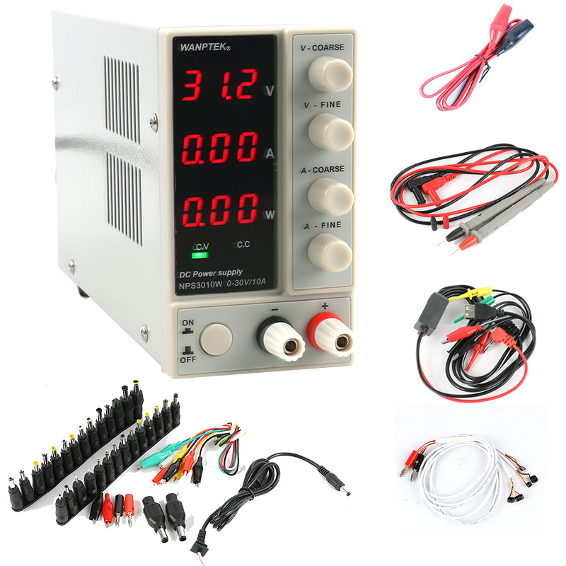 NPS3010W NPS306W Adjustable Digital DC Power Supply 30V 10A 5A with power display Switch Laboratory Power Supply