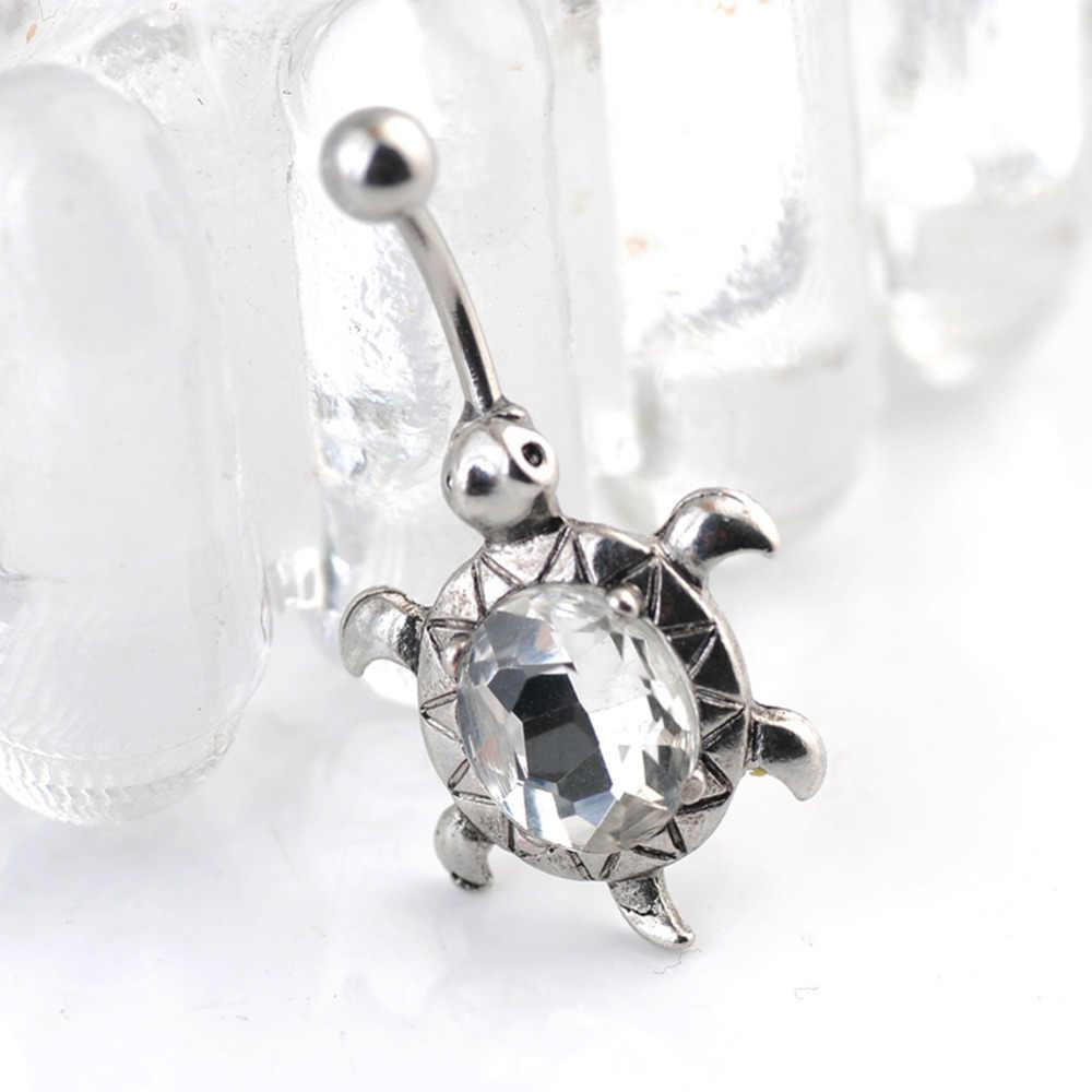 Urocze Body Piercing biżuteria żółw, w kształcie jajka, owalne krótkie klamra pępka brzucha guzika pierścionki może dropshipping