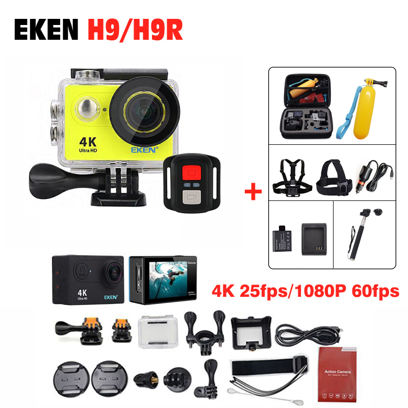 Price Down Eken H9/H9R 100% Original Action Camera Ultra HD 4K 30M sport 2.0' Screen 1080p FHD go waterproof pro camera