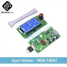 Цифровой ЖК-дисплей двойной импульсный датчик точечной сварки сварочный аппарат контроль времени сварной модуль Плата 40A/100A электронный контрольный Лер