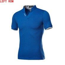 Лидер продаж, новая модная брендовая мужская рубашка поло, Однотонная рубашка с коротким рукавом, приталенная рубашка, мужские хлопковые рубашки поло, повседневный стиль Camisa Polo 5XL