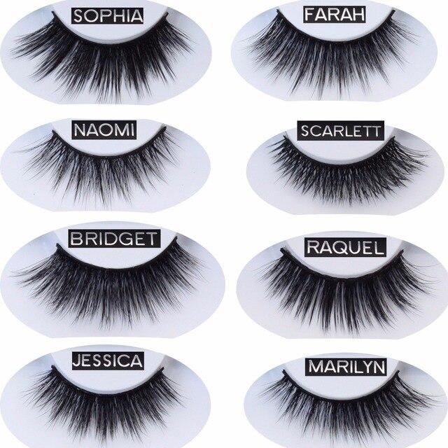 af5a81b8e8b Visofree Faux Mink Eyelashes 3D Soft Makeup Eye Lashes Handmade False Mink  Eyelashes Natual Long Mink