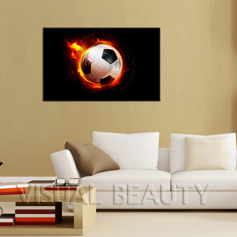FREE SHIPPING Popular Soccer Painting Hot Sale Canvas Art For Room ...