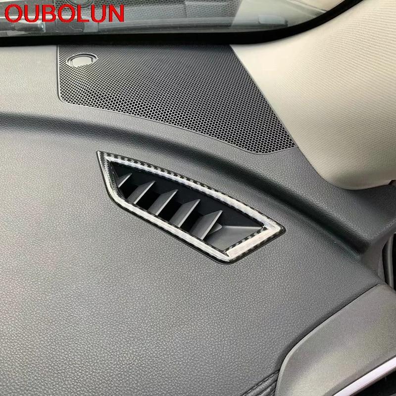 ABS Carbon Fiber Inner Door Handle Frame Cover Trim For Subaru Forester 2019