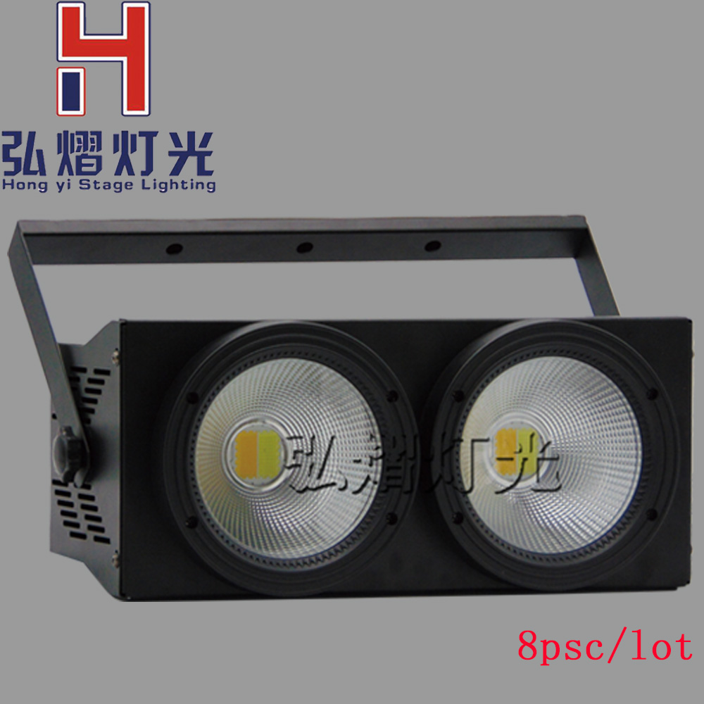 8pcs/lot 100W COB LED Par Can/2in1 White+Warm white 2in1 DMX 100w COB LED Par/LED dmx wash Stage Light /ktv dj disco lighting show plaza light stage blinder auditoria light ww plus cw 2in1 cob lamp 200w spliced type for stage