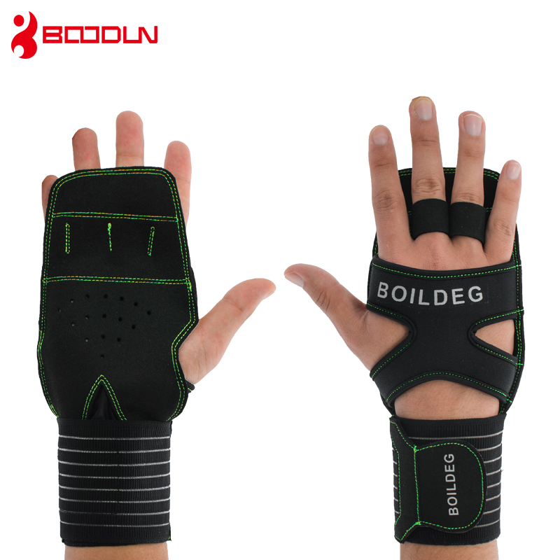 Bright 1 Pair Weightlifting Training Gloves Fitness Sports Body Building Gymnastics Grips Gym Hand Palm Protector Gloves Sports Gear Sports & Entertainment Fitness Gloves