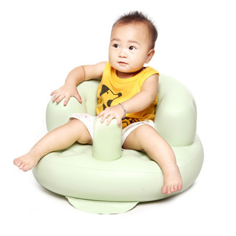 Small Thicken Inflatable Sofa Portable Baby Chair Baby Learn Seat ...