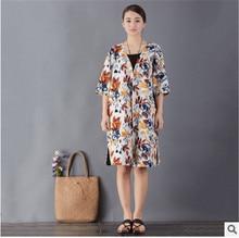 Retro art thin section three quarter sleeve dress three quarter sleeve velvet dress