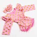 Новорожденный осень новый одежда хлопок позолотой с длинными рукавами жгут детские Сиамские жгута + оголовье костюм детские джинсы костюм