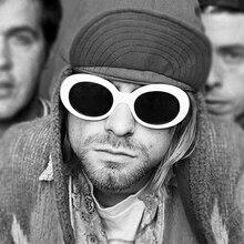 LongKeeper New Women Oval Sunglasses NIRVANA Kurt Cobain Sunglasses Men Retro Female Male Sun Glasses Women