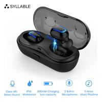 2019 SYLLABLE HBQ Q13S Bluetooth V5.0 TWS Earphone 5 hours True Wireless Stereo Earbuds 600mah Bluetooth Headset for Phone