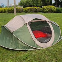 Four person double pop up boat type account outside the beach tents park camping tent quick installation automatic tent