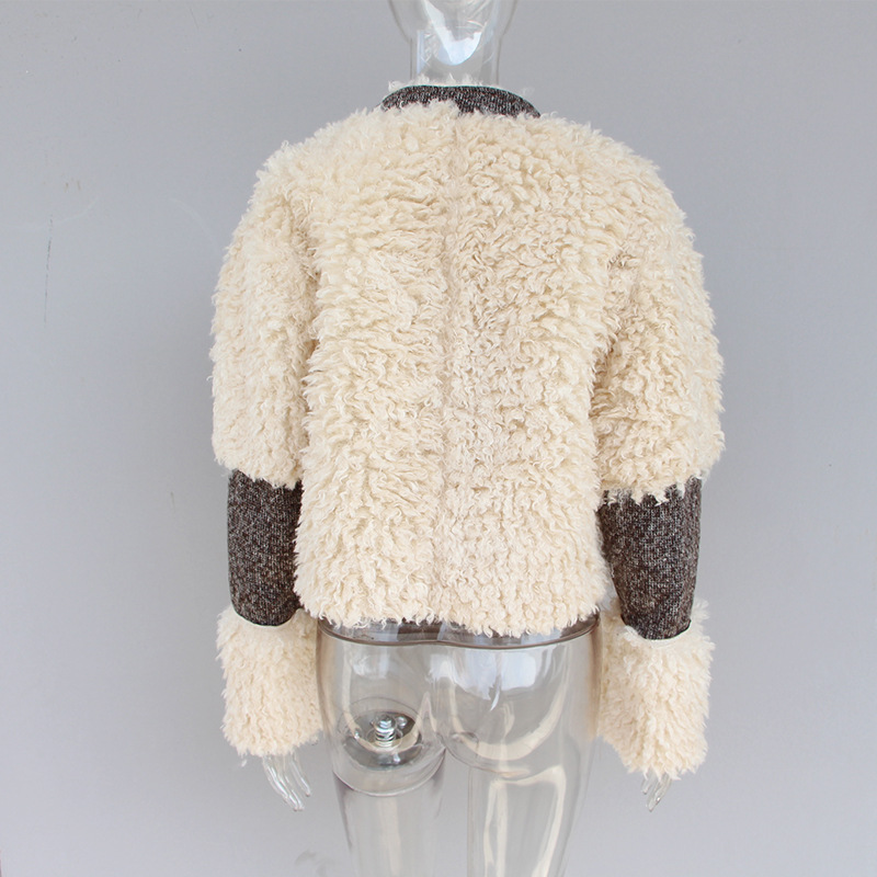 Couture Femmes Montant Et Col Mince D'hiver Outwear Fourrure Woolpack Kaki De Court Khaki Manteaux Personnalité Manteau Vestes 6AqzX