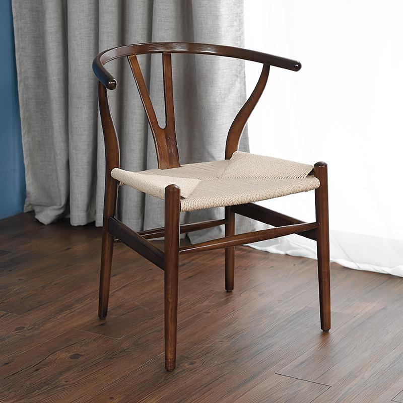 Скандинавский современный из натурального дерева простой обеденной стул из ясеня для отдыха дома спинка деревянного кресла Кеннеди китайский стиль Y стул - Цвет: style 2