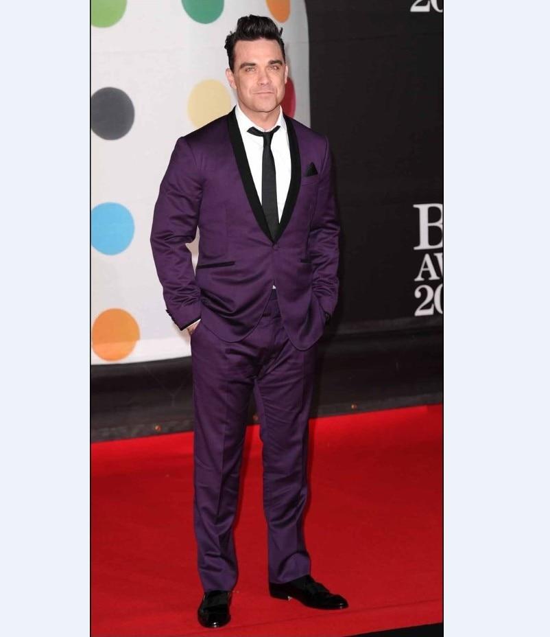 Purple Black Suit | My Dress Tip