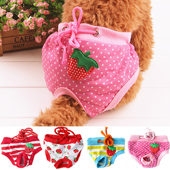 Wholesale Female Pet Dog Puppy Diaper Pants Physiological Sanitary Short Panty Nappy Underwear M/L/XL 7KEQ image