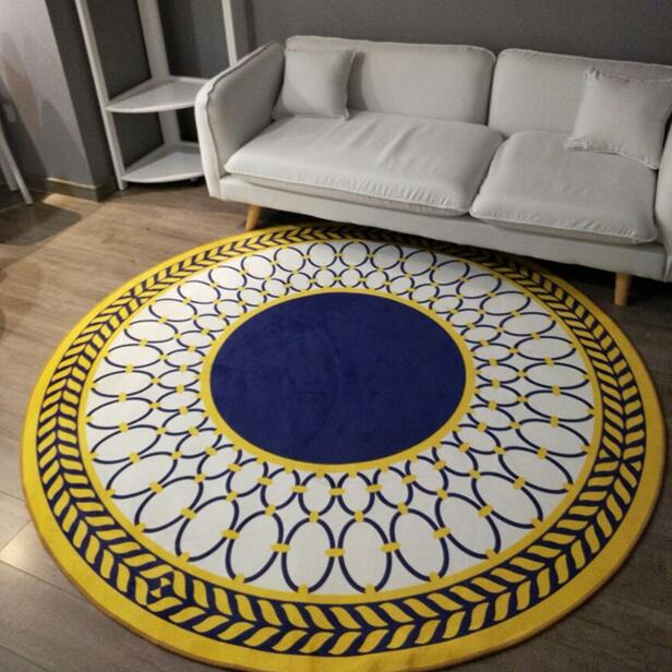 Astonishing Us 22 27 32 Off Nordic Fashion Round Carpet Geometric Stripe Coffee Table Room Bedroom Living Room Rug Garden Kids Mat Computer Chair Cushion In Andrewgaddart Wooden Chair Designs For Living Room Andrewgaddartcom