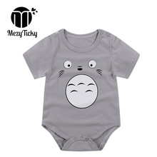 MezyTicky Newborn Soft Cotton Jumpsuit Overalls Baby Fashion Bodysuit Boys Girls Short Sleeve Clothes Infant Underwear Clothing