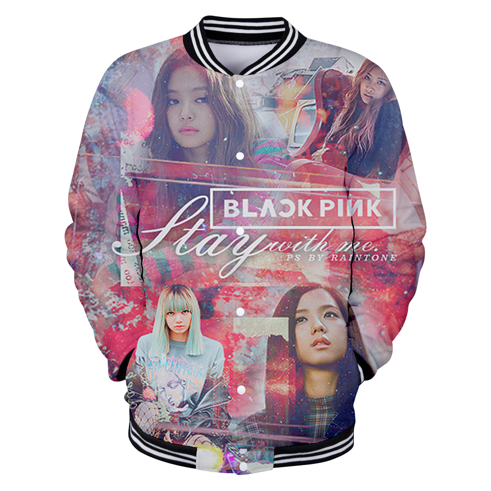 New Korean Blackpink 3D Print Graphic Cool And Fashion Style V-neck Women/men Jacket Kpop Style XXS To 4XL