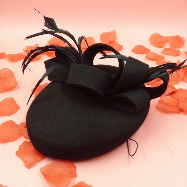 Preto Boina Feminina verão estilo Hat casamento Toucas Femininas parágrafo Inverno lã Beret Para meninas francês Beret chapéus chapéus