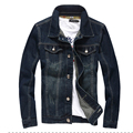 2016 otoño chaqueta de mezclilla de la vendimia slim fit jeans chaquetas outwear M-5XL csual JPYG108