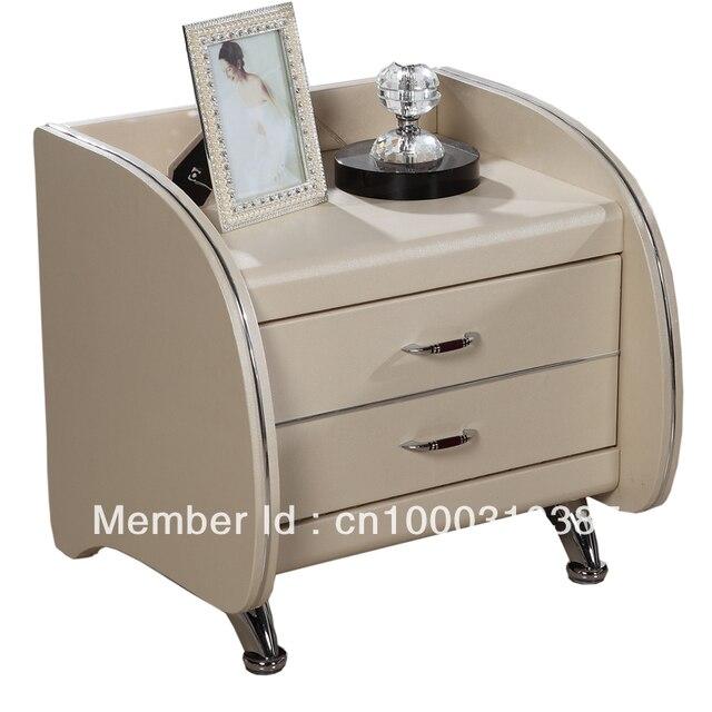 Mesita de noche mesas de madera bedstand cuero bedstand, dormitorio furniure, facotry wholesale ofrecido, mesita de noche mejor calidad C02