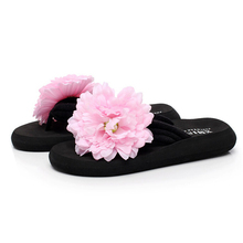 2016 style d'été chaussures femme Bohème flip flops avec sandales de plage pantoufles à la main fleurs paragraphe zapatillas mujer s229